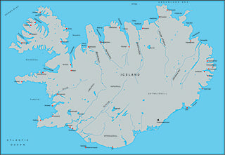 Illustrator EPS map of Iceland