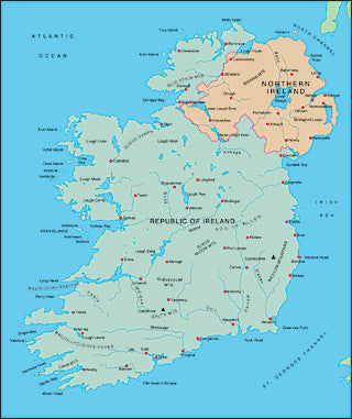Illustrator EPS map of Ireland