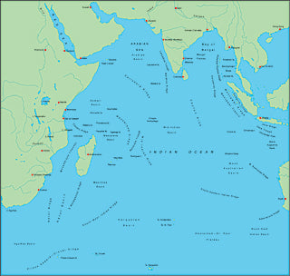 Illustrator EPS map of Indian Ocean