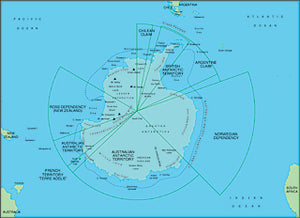 Illustrator EPS map of Antarctica centered on 90 West