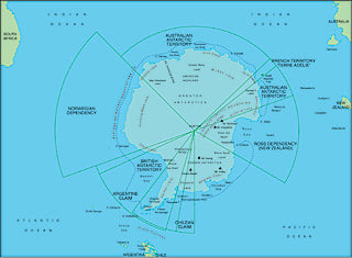 Illustrator EPS map of Antarctica centerd on 90 East