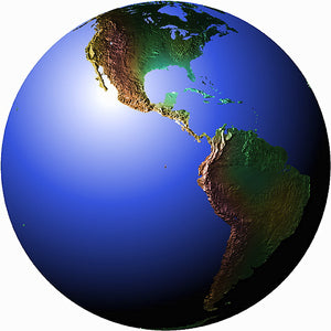 Mountain High Maps Photoshop JPEG Globe view of Equatorial view centered on 90 W longitude Central America