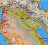Photoshop JPEG Relief map and Illustrator EPS vector map Iraq #322