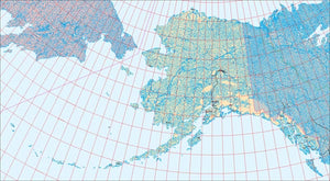 USA State EPS Map of Alaska