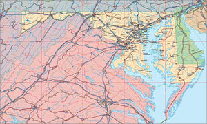 USA State EPS Map of Maryland