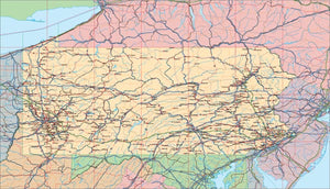 USA State EPS Map of Pennsylvania