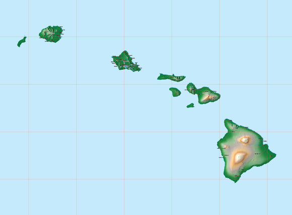PowerPoint Map #912 Hawaii