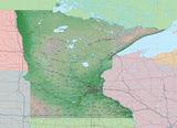 USA State Relief and Vector Map Package of Minnesota