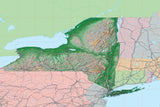 USA State Relief and Vector Map Package of New York