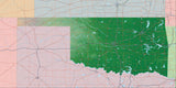 USA State Relief and Vector Map Package of Oklahoma