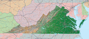 USA State Relief and Vector Map Package of Virginia