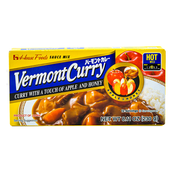 HOUSE Vermont Curry Roux - Hot 12 servings (230g)