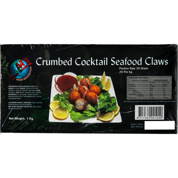 A&T Kanitsume Fry - Frozen Crumbed Cocktail Claws 20pc / 1kg