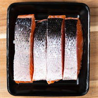 SALMON PORTIONS - SKIN ON BONELESS (500G)