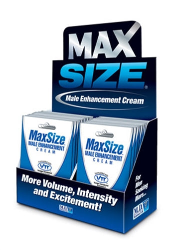 Max Size Cream - 24 Packets Display MD-MSC24