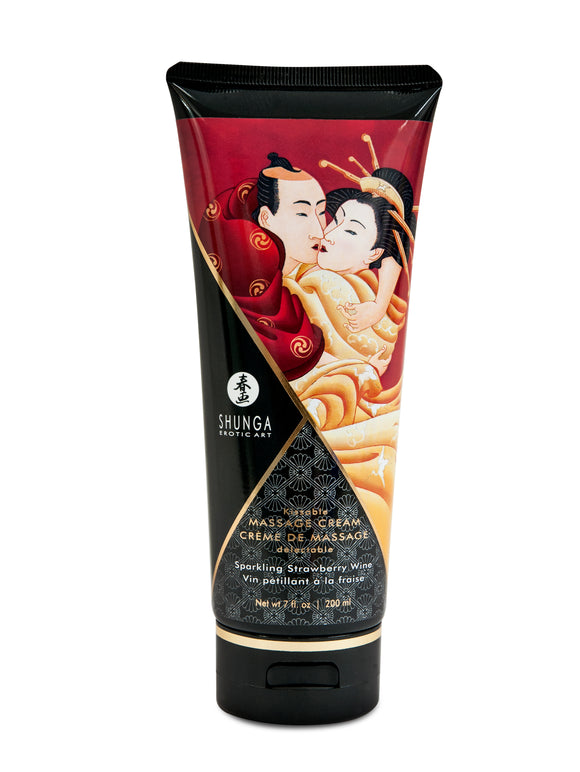 Kissable Massage Cream - Sparkling Strawberry  Wine - 7 Fl. Oz. / 200 ml SHU4108