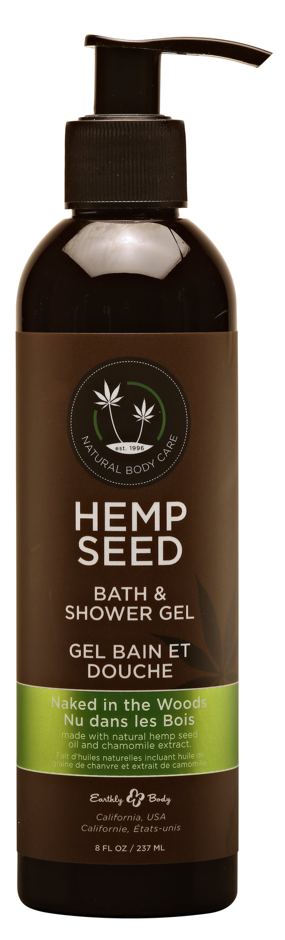 Hemp Seed Bath and Shower Gel - Naked in the Woods - 8 Oz./ 237ml EB-SG022