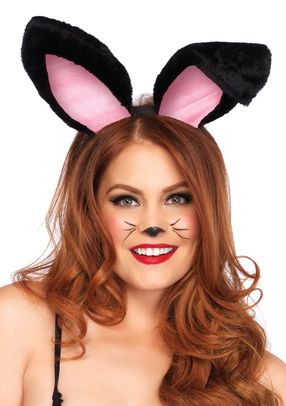 Plush Bunny Ears - Black LA-A2811BLK