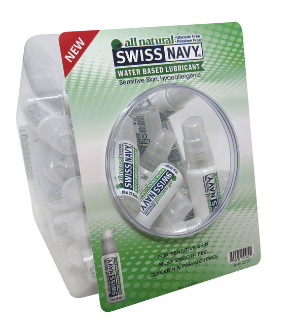 Swiss Navy All Natural 1 Oz 50pc Fishbowl MD-SNAN1OZ50