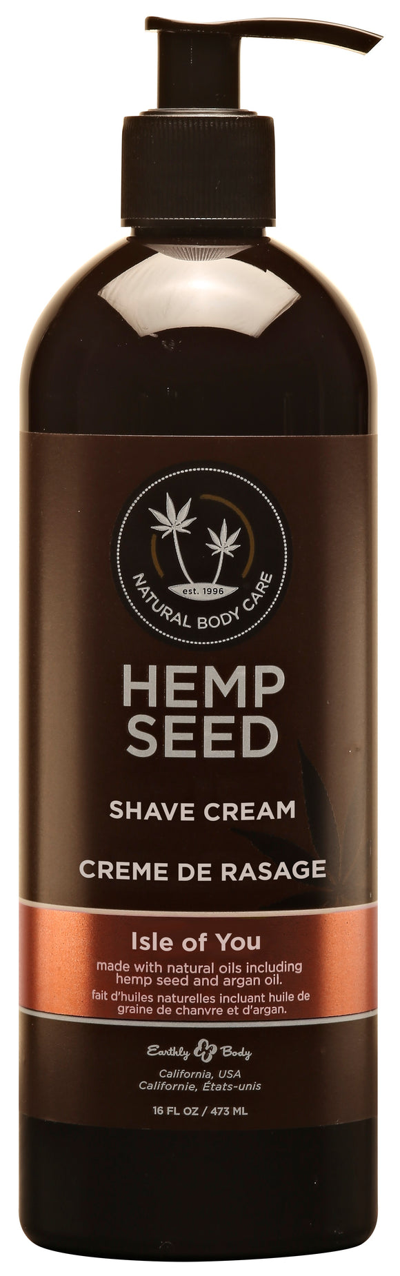 Hemp Seed Shave Cream - Isle of You 16oz EB-HSSK252