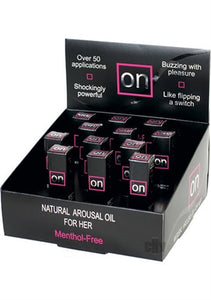 On Natural Arousal Oil Original 12 Pieces Display - 0.17 Fl. Oz. Bottles SEN-VL179D