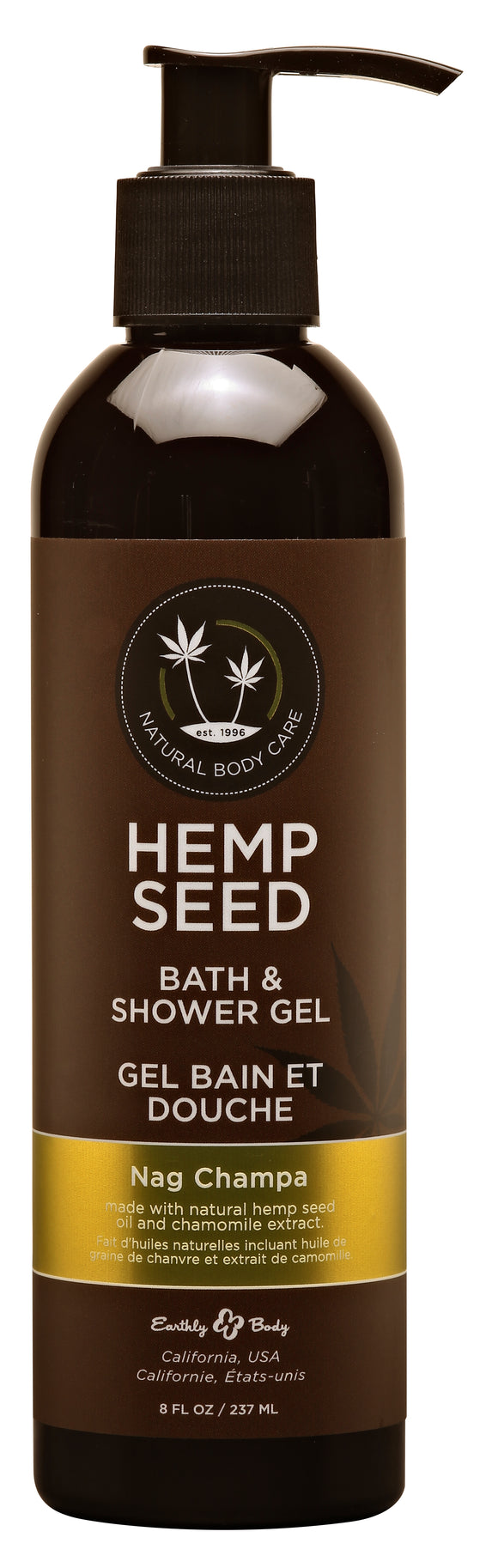 Hemp Seed Bath and Shower Gel - Nag Champa - 8 Oz./ 237 ml EB-SG020