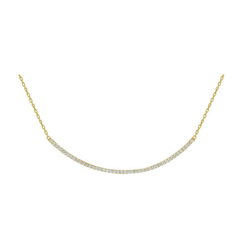 Gold Curve Necklace