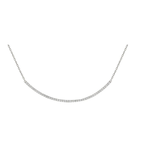 Silver Curve Necklace