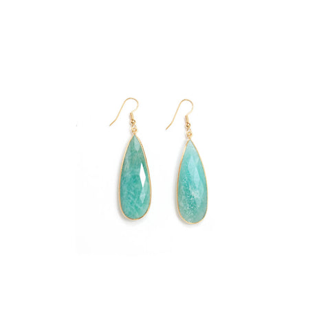 Amazonite Tear Drop Earrings