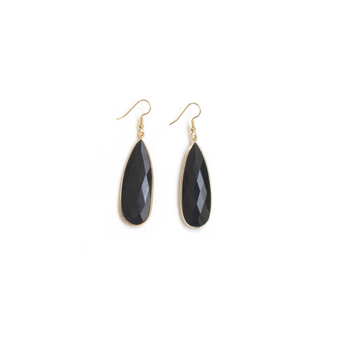 Onyx Tear Drop Earrings