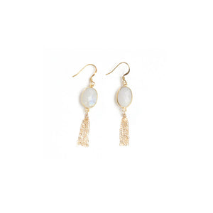 White Lace Tassel Earrings