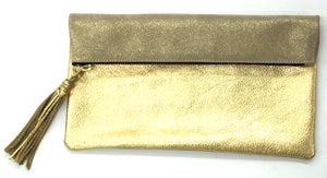 Suede Foldover Pouch