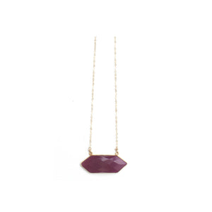 Octagon Rhodonite Necklace