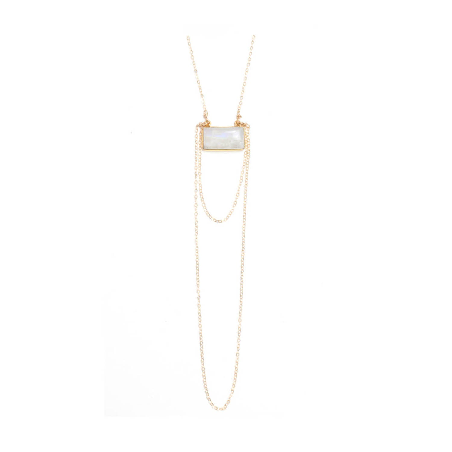 Chalcedony Tassel Necklace