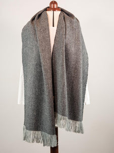NEW Black grey blanket scarf