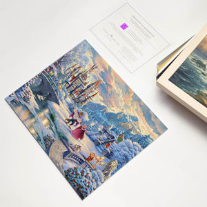 Art Prints Beauty and the Beast's Winter Enchantment