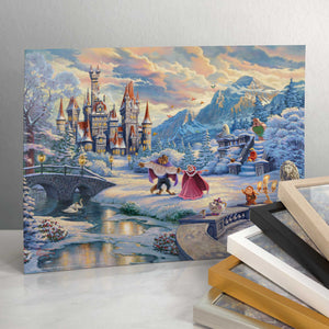 "Beauty and the Beast's Winter Enchantment - 11"" x 14"" Art Prints 101877"