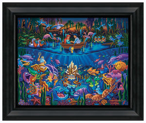 "Little Mermaid - Part of Your World - 19"" x 22.5"" Framed Canvas Prints 102637"