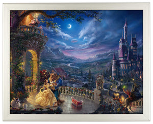 Beauty and the Beast Dancing in the Moonlight - Standard Art Prints - ArtOfEntertainment.com