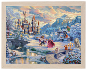 Beauty and the Beast's Winter Enchantment - Standard Art Prints - ArtOfEntertainment.com