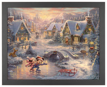 Load image into Gallery viewer, Disney Mickey and Minnie - Sweetheart Holiday - Standard Art Prints - ArtOfEntertainment.com