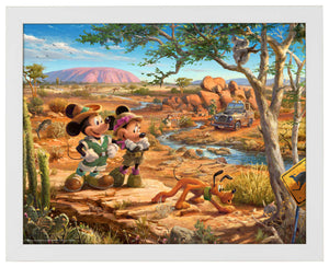 Mickey and Minnie In The Outback - Standard Art Prints - ArtOfEntertainment.com