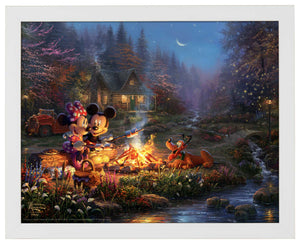 Mickey and Minnie - Sweetheart Campfire - Standard Art Prints - ArtOfEntertainment.com