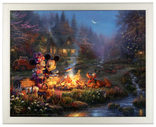 Load image into Gallery viewer, Mickey and Minnie - Sweetheart Campfire - Standard Art Prints - ArtOfEntertainment.com
