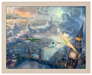 Tinker Bell and Peter Pan Fly to Never Land - Standard Art Prints - ArtOfEntertainment.com