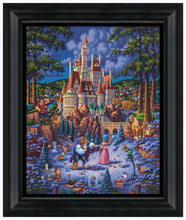 "Load image into Gallery viewer, Beauty and the Beast Finding Love - 19"" x 22.5"" Framed Canvas Prints 103328"