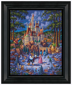 "Beauty and the Beast Finding Love - 19"" x 22.5"" Framed Canvas Prints 103328"