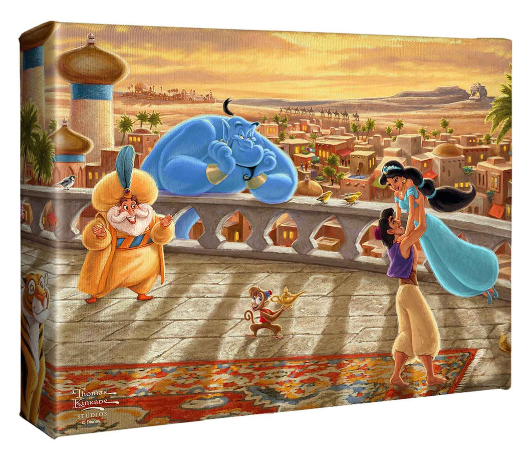 Jasmine Dancing in the Desert Sunset - Gallery Wrapped Canvas - ArtOfEntertainment.com
