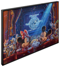 "Load image into Gallery viewer, 90 Years of Mickey - 40"" x 60"" Framed Monumental Canvas (Onyx Black Frame) 103949"