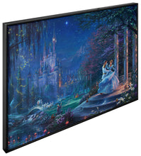 "Load image into Gallery viewer, Cinderella Dancing in the Starlight - 40"" x 60"" Canvas Wall Murals (Onyx Black Frame) - ArtOfEntertainment.com"